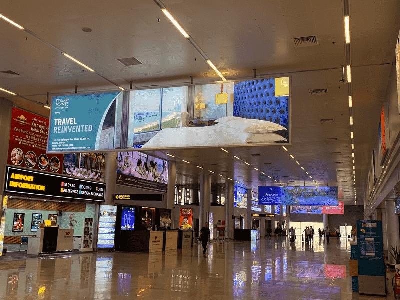 Màn hình LED được đặt nhiều vị trí trong các trung tâm thương mại