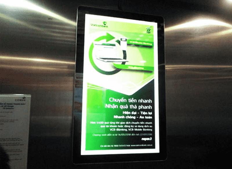 Màn hình Frame quảng cáo thường được lắp đặt ở cửa thang máy