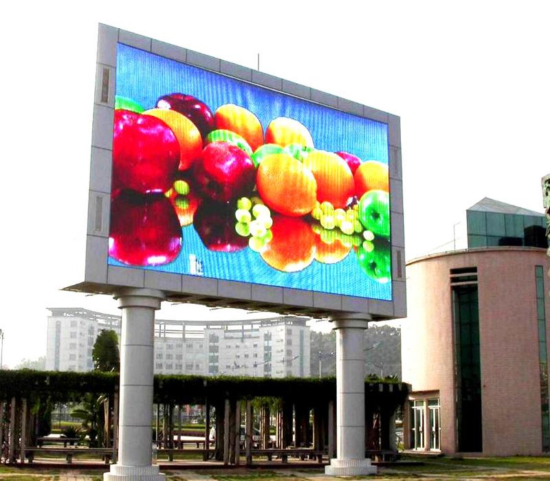 Nội dung hình ảnh được chạy trên màn hình LED