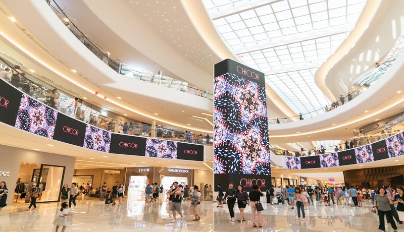 Màn hình LED bắt mắt làm thu thú nhiều sự quan tâm của khách hàng