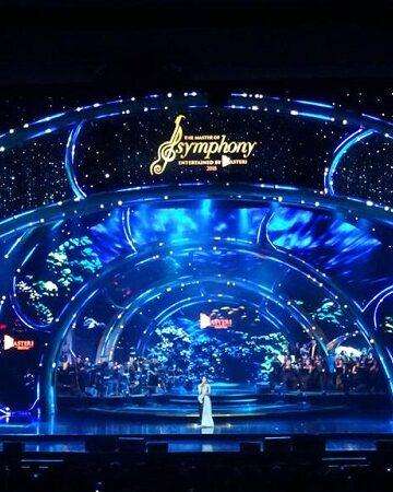 Màn hình LED sân khấu trong nhà chương trình THE MASTER OF SYMPHONY 2018