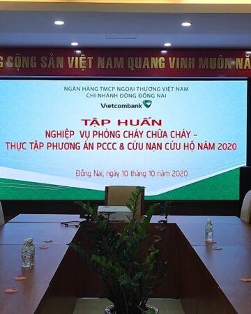 Dự án màn hình LED P3 Hồng Nhân lắp đặt tại Vietcombank - Đồng Nai