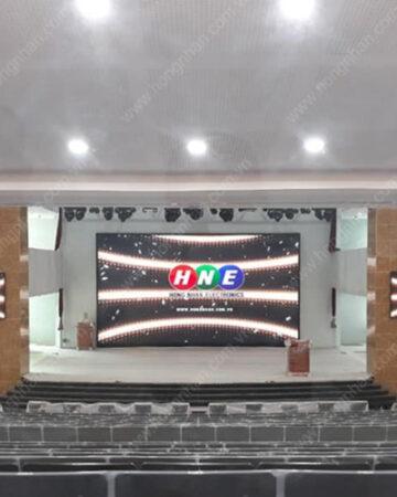 Màn hình LED P5 Hồng Nhân thực hiện tại trường Học Viện Cán Bộ